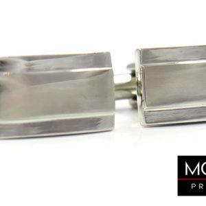 spinki srebrne prostokaty